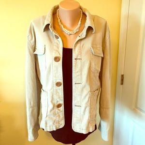 Jackets & Blazers - Tulle Corduroy Women's Tan Jacket